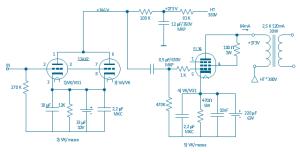 Circuit diagram  Electron vacuum tubes | Circuit diagram  Electron vacuum tubes  Conceptdraw