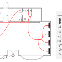 How To Wire A Ceiling Fan With Two Switches Diagrams Echo Chainsaw Cs 346 Parts Diagram Lighting And Switch Layout | Design Elements - Electrical Telecom Cafe Floor ...
