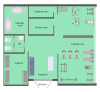 Health club floor plan | Fitness center floor plan | Gym ...