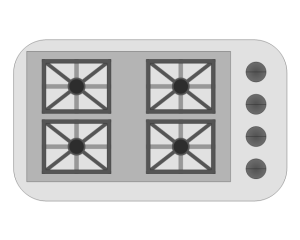 Appliances  Vector stencils library   Gas Stove And Gas Grillers In Floor Plan Symbol