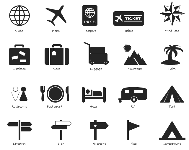 data flow diagram tool free 3 way switch wiring more than one light travel and tourism pictograms - vector stencils library | design elements ...