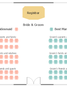 Wedding ceremony seating plan also how to create  chart for or event rh conceptdraw