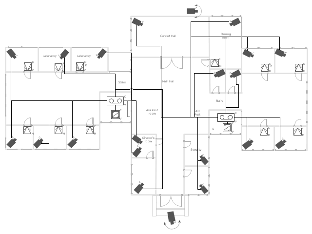 pro audio wiring diagrams convert image to visio diagram cctv network example | how create a in conceptdraw ...