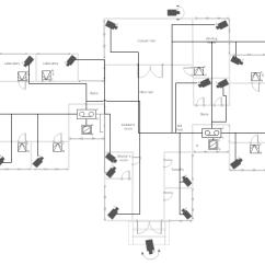 Security Camera Wiring Diagram Nissan Maxima Engine Video Surveillance Scheme - School Floor Plan