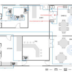 House Wiring Diagram Symbols Pdf Of Hypervisor Network Layout Floor Plans | How To Create A Plan Design Elements ...