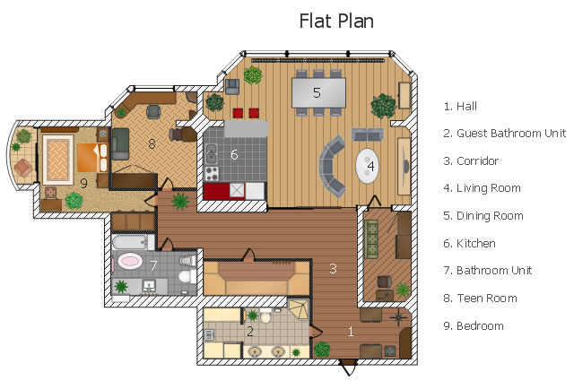 Flat Design Floor Plan Examples Of Design Brief Of A Bachelor Flat