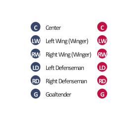 Hockey Player Diagram 1992 Honda Accord Lx Radio Wiring Design Elements Ice Positions Vector