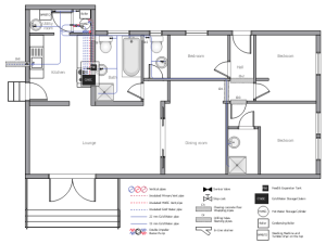Ductwork layout | House tap water supply | School HVAC