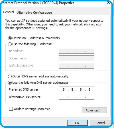 Dynamic IP address