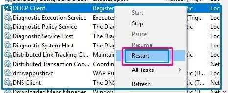 DHCP-Client-restart