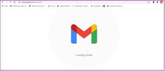 Gmail login screen