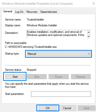 Start Window Module Installer