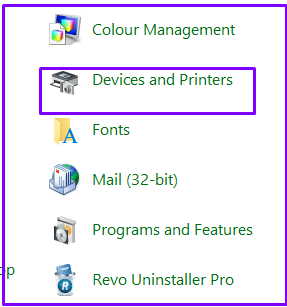 Click On Device and Printer