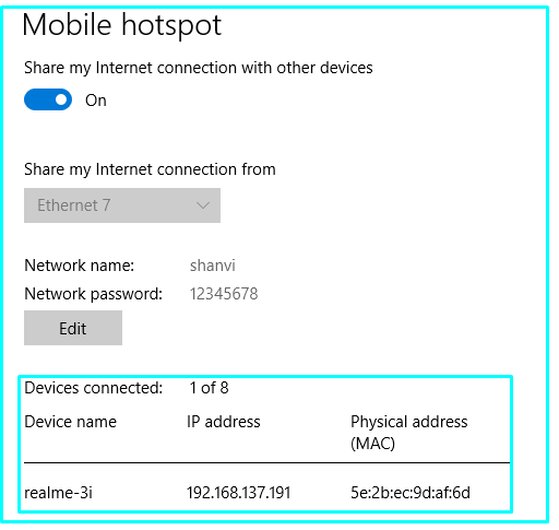 Device Connected Status