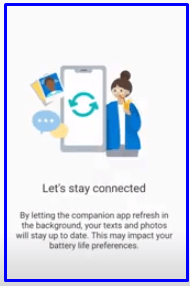 let stay connected click on continue