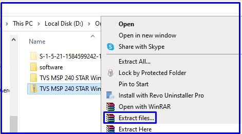 Extracts download zip files