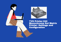 TVS MSP 240 Star Monochrome Dot Matrix Printer