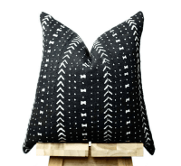 BLACK MUDCLOTH TRIBAL PILLOWS - Concepts and Colorways