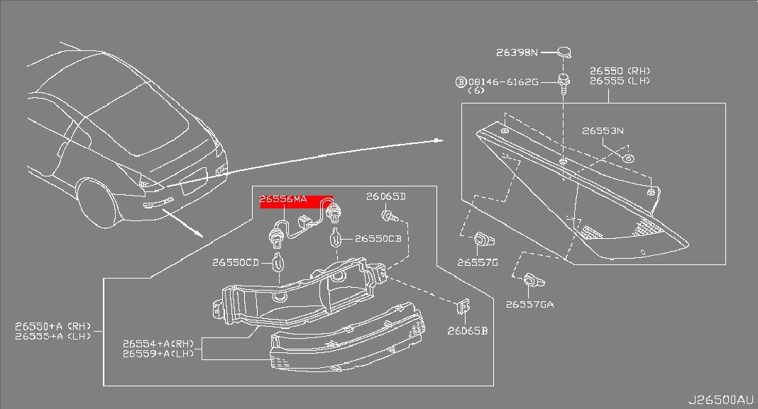 Nissan / Infiniti Nissan OEM 350Z Rear Combination Light