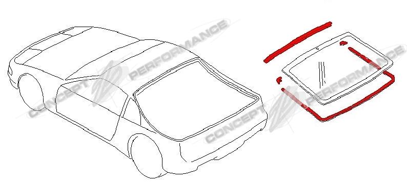 Nissan / Infiniti Nissan OEM Rear Hatch Window Molding