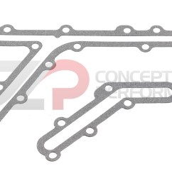 czp rear timing cover oil gallery gasket set vq35de nissan 350z infiniti g35 fx35 13533 vq35de kt b 7991a26x14 kt concept z performance [ 1200 x 729 Pixel ]