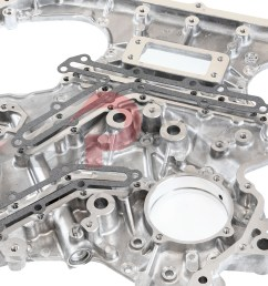 czp rear timing cover oil gallery gasket set vq35de nissan 350z infiniti g35 fx35 13533 vq35de kt b 7991a26x14 kt concept z performance [ 1600 x 1042 Pixel ]