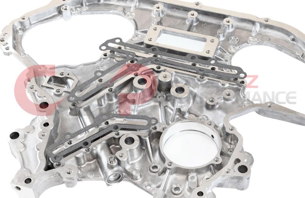 medium resolution of czp rear timing cover oil gallery gasket set vq35de nissan 350z infiniti g35 fx35 13533 vq35de kt b 7991a26x14 kt concept z performance