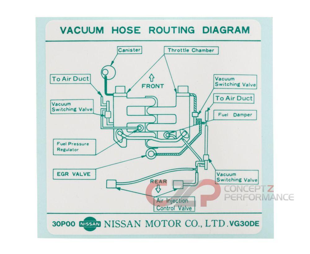 medium resolution of nissan infiniti label vacuum piping diagram 22304 30p00 universalinfiniti vacuum diagram 8