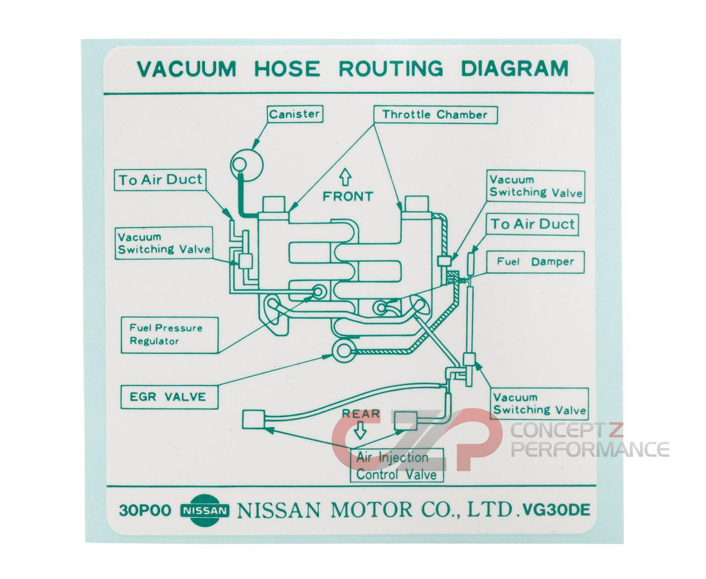 hight resolution of nissan infiniti label vacuum piping diagram 22304 30p00 universalinfiniti vacuum diagram 8
