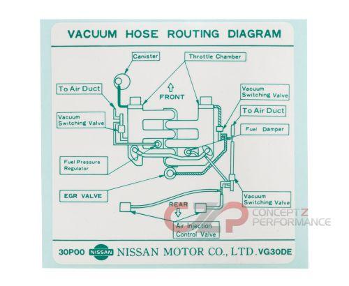 small resolution of nissan infiniti label vacuum piping diagram 22304 30p00 universalinfiniti vacuum diagram 8