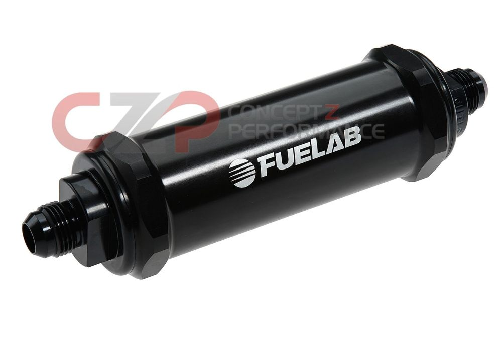 medium resolution of fuelab 828 series 10 micron long length in line fuel filter black