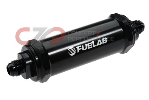 small resolution of fuelab 828 series 10 micron long length in line fuel filter black