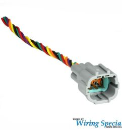 wiring specialties halogen headlight connector w pigtails 6 pin male350z headlight wiring harness wire  [ 1280 x 965 Pixel ]