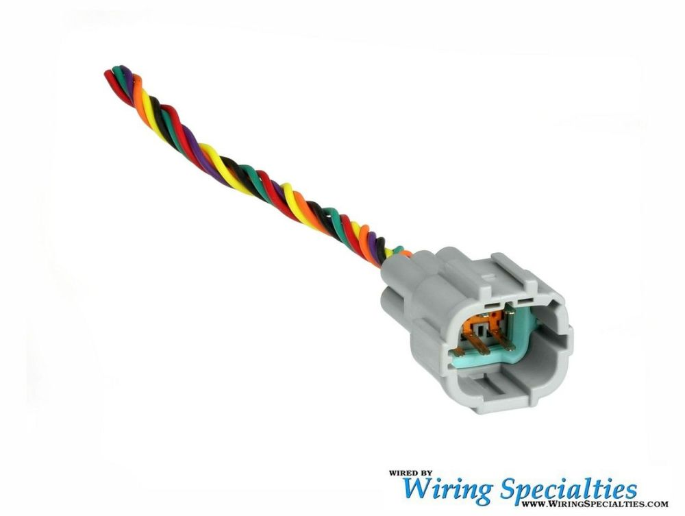 medium resolution of wiring specialties halogen headlight connector w pigtails 6 pin male350z headlight wiring harness wire