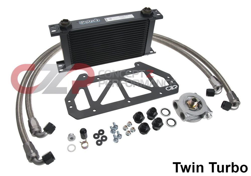 medium resolution of czp full flow engine oil cooler kit nissan 300zx z32