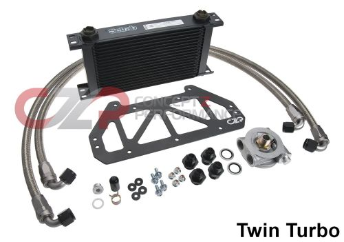 small resolution of czp full flow engine oil cooler kit nissan 300zx z32