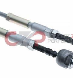ikeya formula adjustable inner tie rods nissan 240sx s13 s15 [ 1400 x 749 Pixel ]