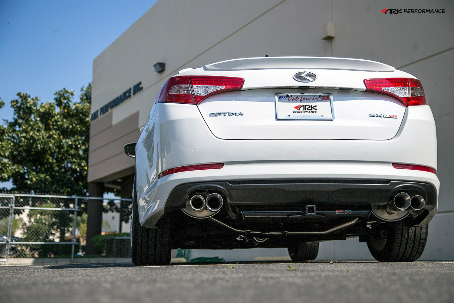 ark performance stainless steel dt s cat back exhaust system 2 25 to 2 5in pipe w 3 5 2 5 polished dual tip dual exit kia optima k5 11 13