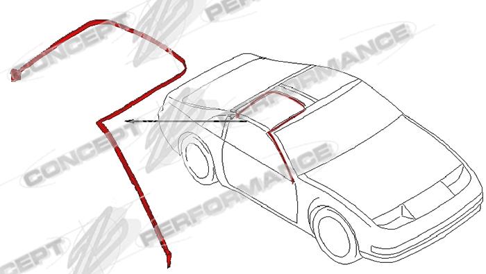 Nissan / Infiniti Nissan OEM 76860-51P00 A-Pillar / T-Top