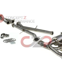 invidia gemini rolled titanium tip cat back exhaust system infiniti g37 q60 coupe cv36 [ 1600 x 715 Pixel ]
