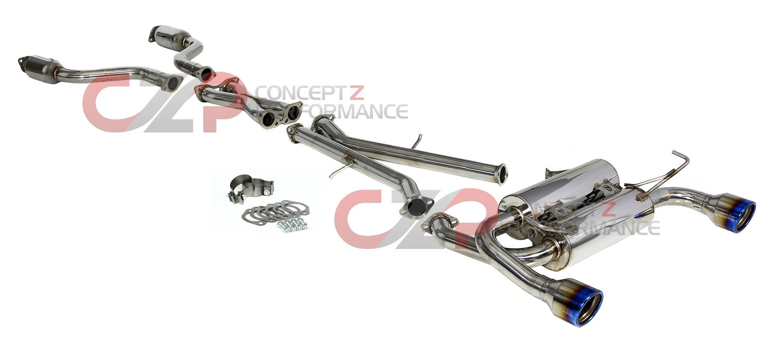 hight resolution of invidia gemini rolled titanium tip cat back exhaust system infiniti g37 q60 coupe cv36