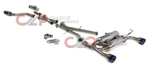 small resolution of invidia gemini rolled titanium tip cat back exhaust system infiniti g37 q60 coupe cv36