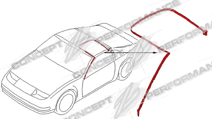 Nissan / Infiniti Nissan OEM 76860-51P10 A-Pillar / T-Top