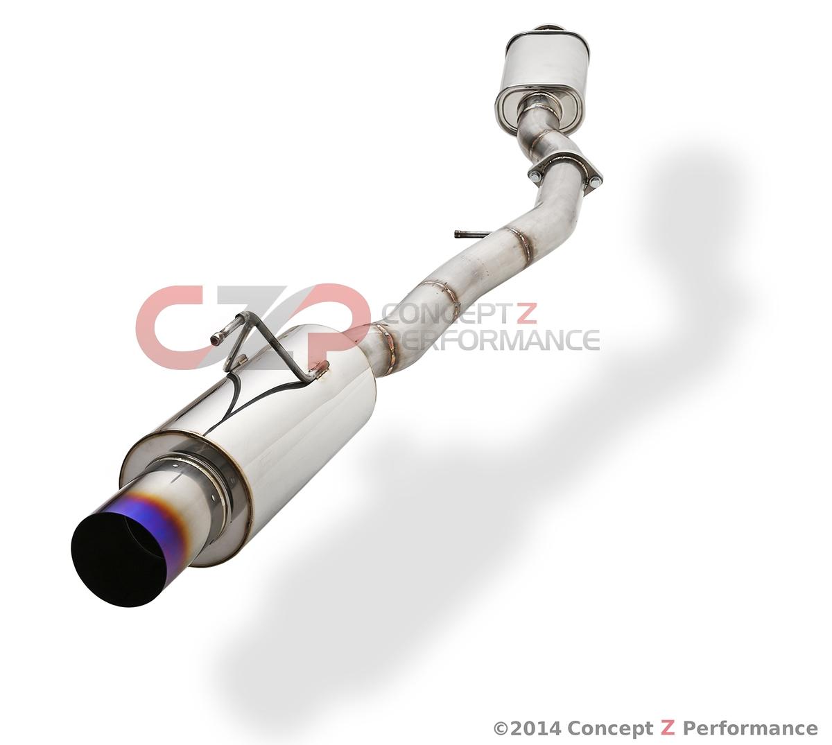 aam competition 3 maxflow single exit exhaust titanium tip nissan 350z z33 aam35e mfs3 t concept z performance