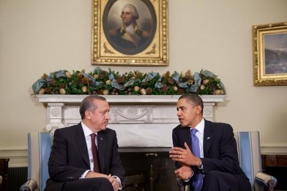 Turkish Prime Minister Recep Tayyip Erdogan an...