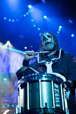 Chris Fehn of Slipknot @ White River Amphitheatre during Pain in the Grass © Michael Ford