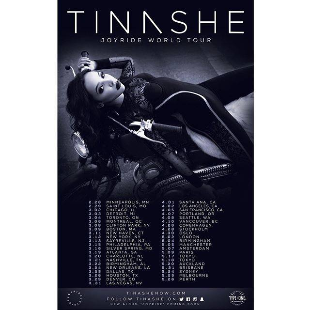 Tinashe Announces World Tour for 2016