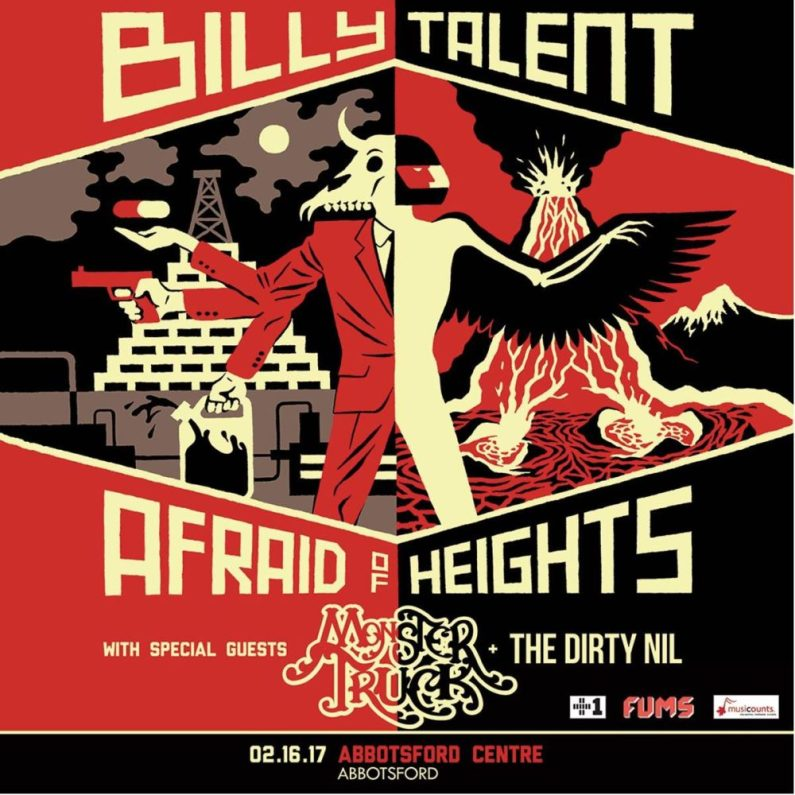 billy talent afraid of heights tour 2017