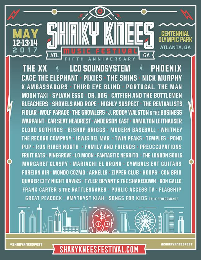 Shaky Knees lineup 2017