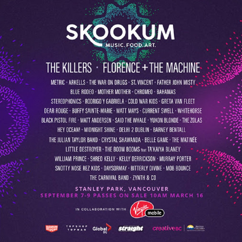 Skookum Festival Rolls Out Inaugural Lineup